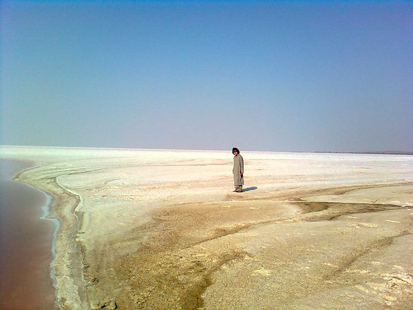 Michael on the Great Rann of Kutch - before he fell in