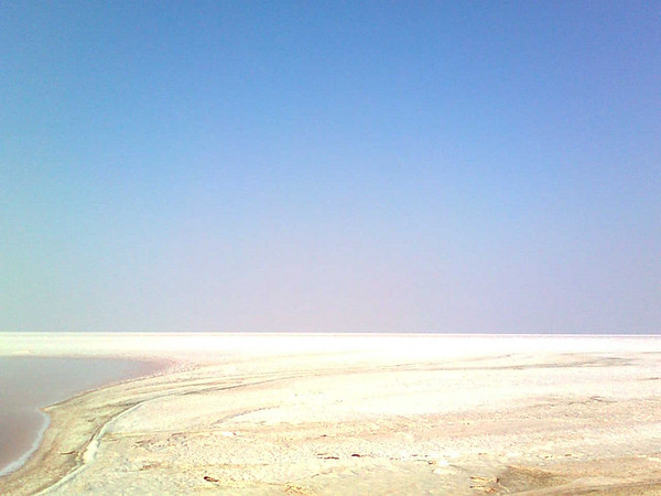 View of the Great Rann of Kutch salt flats