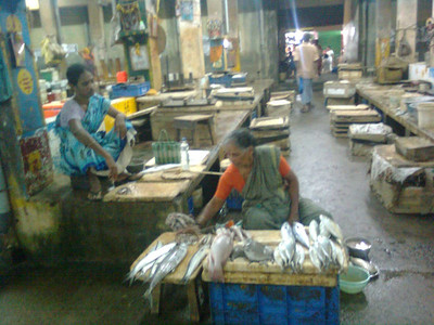 Women at the Puducherry fish market